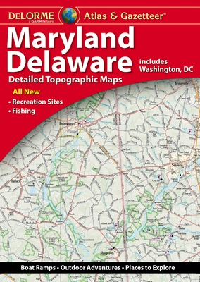 Delorme Maryland/Delaware Atlas & Gazetteer Cover Image