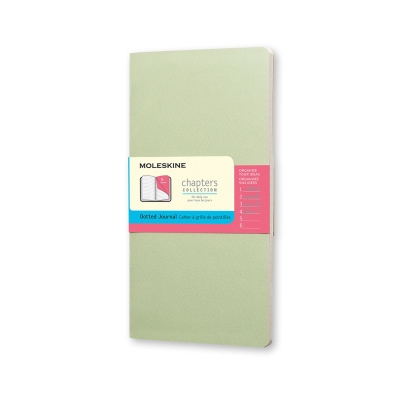 Moleskine Chapters Journal, Slim Medium, Dotted, Mist Green, Soft Cover (3.75 x 7) Cover Image