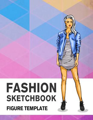 Fashion Sketchbook Figure Template: 430 Large Female Figure Template for Easily Sketching Your Fashion Design Styles and Building Your Portfolio Cover Image
