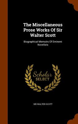Cover for The Miscellaneous Prose Works of Sir Walter Scott