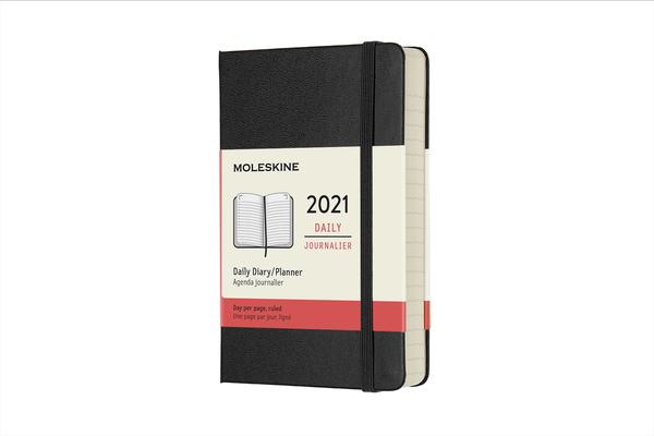 Moleskine 2021 Daily Planner, 12M, Pocket, Black, Hard Cover (3.5 x 5.5) Cover Image