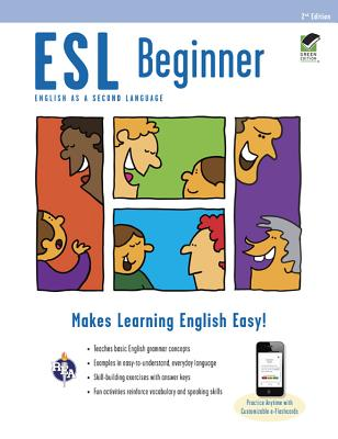 ESL Beginner Premium Edition with E-Flashcards (English as a Second Language) Cover Image
