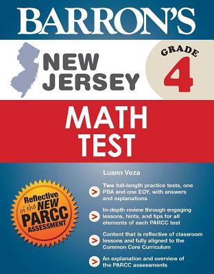 Cover for New Jersey Grade 4 Math Test (Barron's Test Prep NJ)