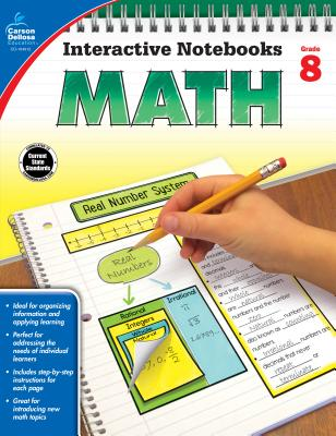 Math, Grade 8 (Interactive Notebooks) Cover Image