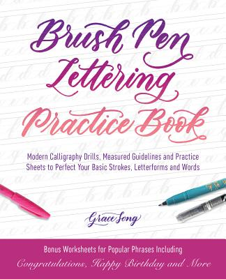 Cover for Brush Pen Lettering Practice Book