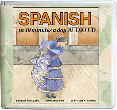 Spanish in 10 Minutes a Day Audio CD Wallet - Library Edition Cover