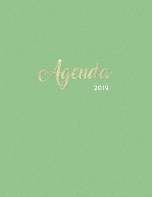 Agenda 2019: Semanal Diario Organizador Calendario - Verde Y Oro Cover Image