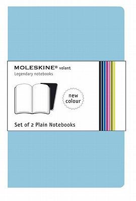 Moleskine Volant Notebook (Set of 2 ), Extra Large, Plain, Sky Blue (7.5 x 10) (Volant Notebooks) Cover Image