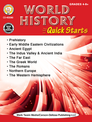 World History Quick Starts Workbook, Grades 4 - 12 Cover Image