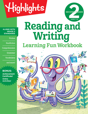 Second Grade Reading and Writing (Highlights Learning Fun Workbooks) Cover Image
