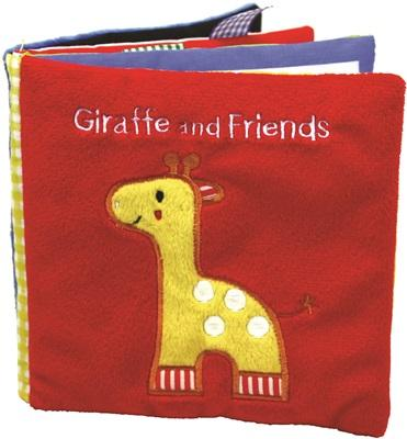 Giraffe and Friends: A Soft and Fuzzy Book for Baby (Happy Colors) Cover Image