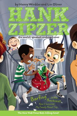 Barfing in the Backseat #12: How I Survived My Family Road Trip (Hank Zipzer #12) Cover Image