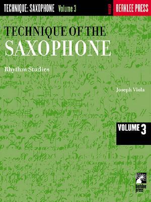 Technique of the Saxophone - Volume 3: Rhythm Studies Cover Image