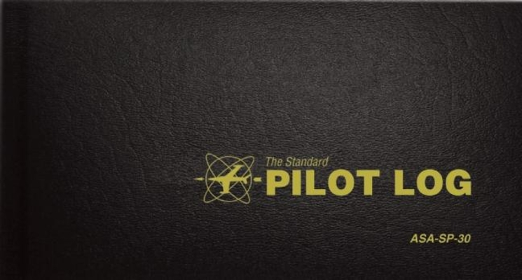 The Standard Pilot Log (Black): Asa-Sp-30 (Standard Pilot Logbooks) Cover Image