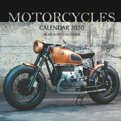 Motorcycles Calendar 2020: 16 Month Calendar Cover Image