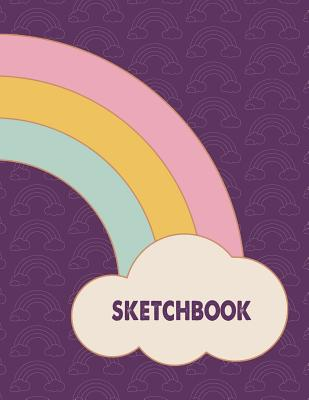 Sketch Book: Purple Rainbow Sketchbook for Drawing Sketching - 8.5x11 Pages to Draw Sketch Doodle - Write in Title, Date, Table of Cover Image