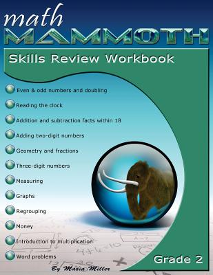 Math Mammoth Grade 2 Skills Review Workbook Cover Image