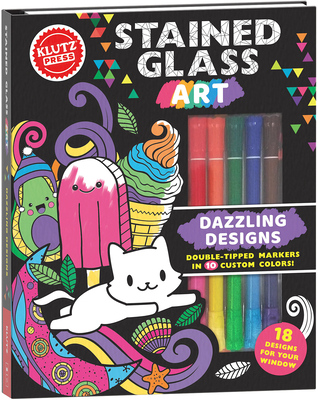 Stained Glass Art: Dazzling Designs (Klutz Activity Book) Cover Image