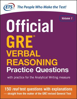Official GRE Verbal Reasoning Practice Questions Cover Image