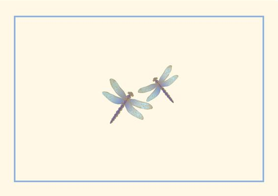 Note Card Blue Dragonflies Cover Image