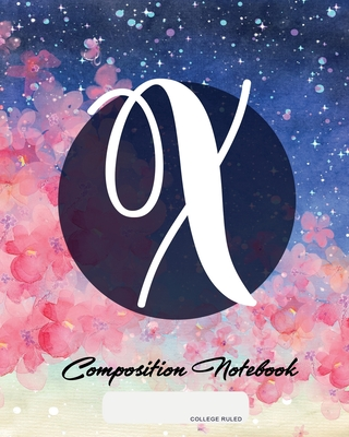 Composition Notebook: College Ruled - Initial X - Personalized Back to School Composition Book for Teachers, Students, Kids and Teens with M cover