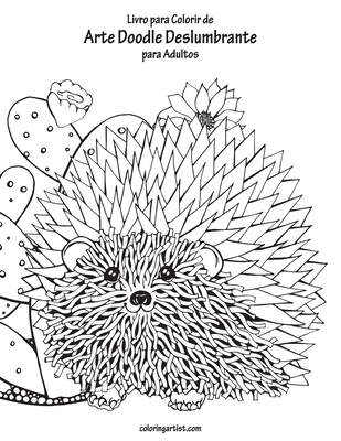 Livro para Colorir de Arte Doodle Deslumbrante para Adultos Cover Image