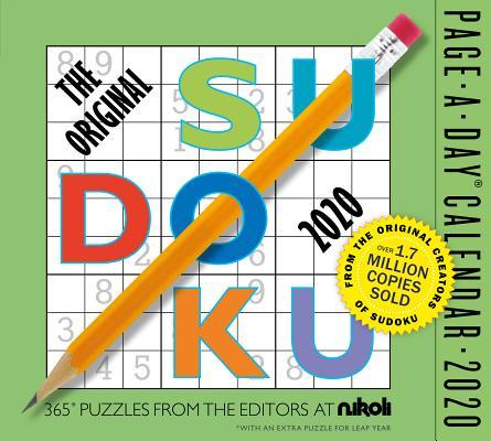 The Original Sudoku Page-A-Day Calendar 2020 Cover Image