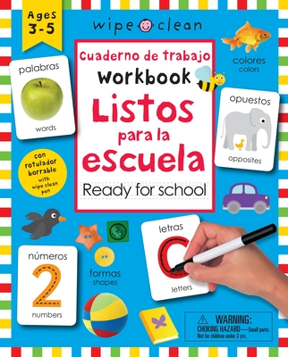 Wipe Clean: Bilingual Workbook Ready for School (Wipe Clean Activity Books) Cover Image