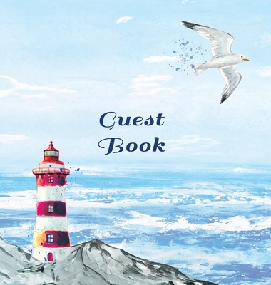 GUEST BOOK FOR VACATION HOME, Visitors Book, Beach House Guest Book, Seaside Retreat Guest Book, Visitor Comments Book.: HARDCOVER: Suitable for Beach Cover Image