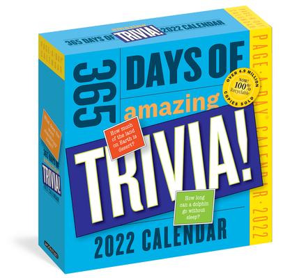 Amazing Calendar 2022.365 Days Of Amazing Trivia Page A Day Calendar 2022 Daily Brilliant Books