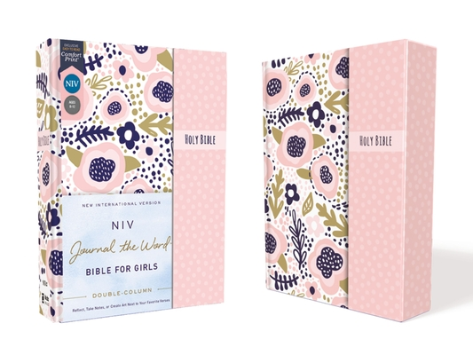 Niv, Journal the Word Bible for Girls, Double-Column, Hardcover, Pink, Magnetic Closure, Red Letter, Comfort Print: Reflect, Take Notes, or Create Art Cover Image