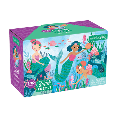 Mermaids Glitter Puzzle Cover Image
