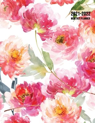 2021-2022 Monthly Planner: Large Two Year Planner with Floral Cover (Volume 3) Cover Image