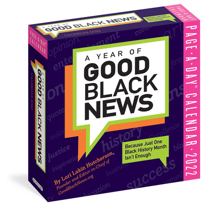 Cover for A Year of Good Black News Page-A-Day Calendar for 2022