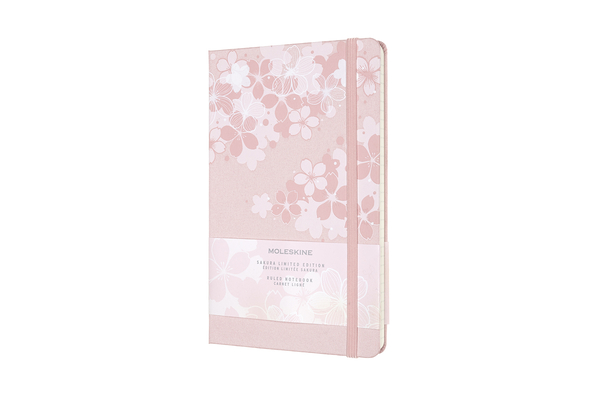 Moleskine Limited Edition Notebook Sakura, Large, Ruled, Dark Pink (5 x 8.25) Cover Image