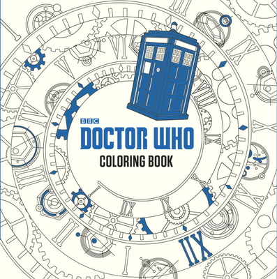 Doctor Who Coloring Book Cover Image