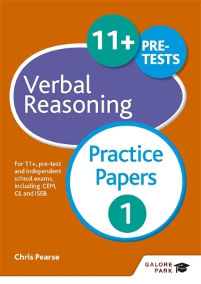 11+ Verbal Reasoning Practice Papers 1 Cover Image