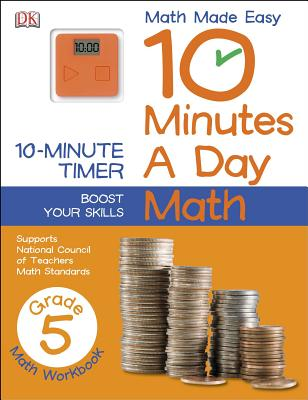 10 Minutes a Day: Math, Fifth Grade Cover Image