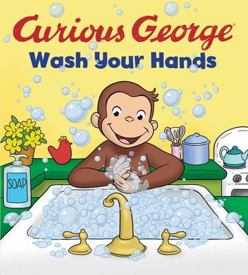 Curious George Wash Your Hands (CGTV Board book) Cover Image