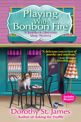 Playing With Bonbon Fire (A Southern Chocolate Shop Mystery #2) Cover Image
