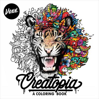 Creatopia: A Coloring Book Cover Image