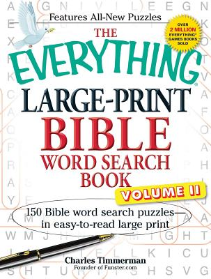 The Everything Large-Print Bible Word Search Book, Volume II: 150 Bible Word Search Puzzles in Easy-to-Read Large Print (Everything®) Cover Image