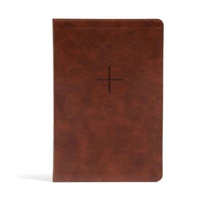 CSB Every Day with Jesus Daily Bible, Brown LeatherTouch: Black Letter, 365 Days, One Year, Ribbon Marker, Devotonals, Easy-to-Read Bible Serif Type Cover Image