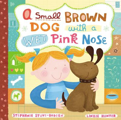 A Small Brown Dog with a Wet Pink Nose Cover