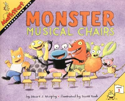 Monster Musical Chairs (MathStart 1) Cover Image
