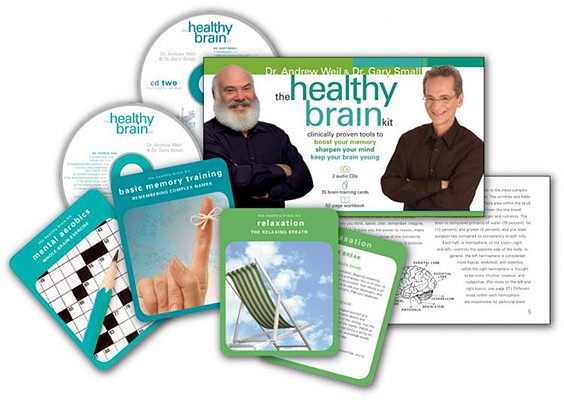 The Healthy Brain Kit: Clinically Proven Tools to Boost Your Memory, Sharpen Your Mind, & Keep Your Brain Young [With 35 Brain-Training Cards and 2 Au Cover Image