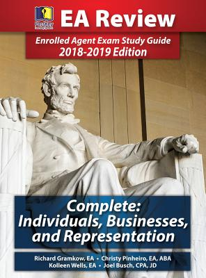 Passkey Learning Systems EA Review Complete: Individuals, Businesses, and Representation: Enrolled Agent Exam Study Guide 2018-2019 Edition (Hardcover Cover Image