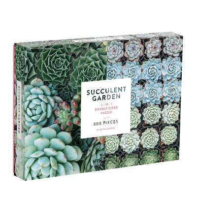 Succulent Garden 2-sided 500 Piece Puzzle Cover Image