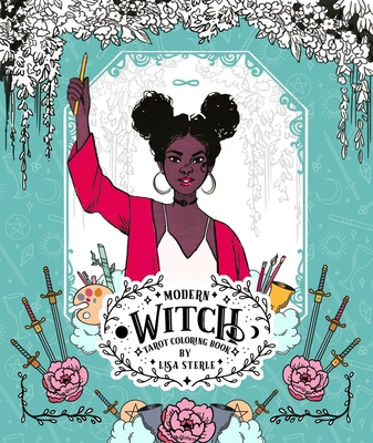 Modern Witch Tarot Coloring Book cover