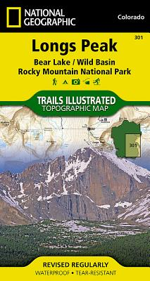 Longs Peak: Rocky Mountain National Park [bear Lake, Wild Basin] (National Geographic Maps: Trails Illustrated #301) Cover Image